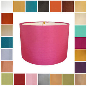 Drum Lampshades Available in 24 Colours, To Fit A Ceiling Light Or A Table Lamp.
