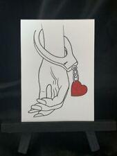 ACEO Original Love Cuff Medium Black Ink Marker on Paper Signed Artist PH 2020