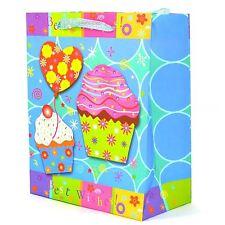 3pk Pequeño Bolsas de Papel de Regalo Decorativo Best Wishes Boda Cumpleaños