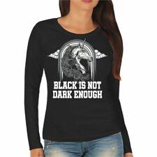 Donne manica lunga indosso NERO finché non è cosa Scura specifica GOTHIC EMO DARK BLACK