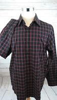 Michael Kors Long Sleeve Plaid Red Black Men's Button Shirt Size XL
