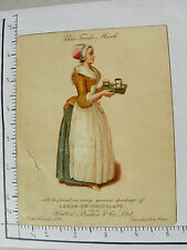 LARGE WALTER BAKER & CO'S BUILDING COCOA OR CHOCOLATE DORCHESTER MASS WOMAN 1196