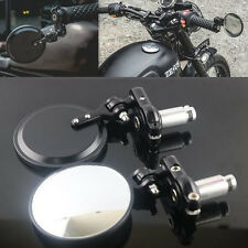 """2 Pcs Motorcycle Rotate CNC Aluminum 7/8"""" Handle Bar End Side Rearview Mirrors"""