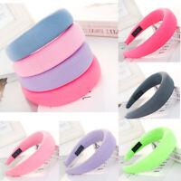 Women's Padded Headband Candy Color Headband Hair Hoop Headpiece Milk Silk Cloth