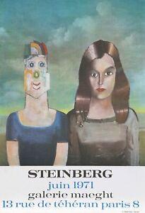 Saul Steinberg, Galerie Maeght, Poster