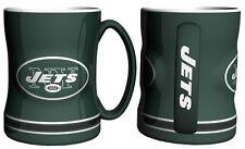 NFL New York Jets Green 14 oz Ceramic Relief Mug