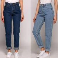 Women Laides Vintage High Waist Long Pants Harem Jeans Ankle Length Skinny