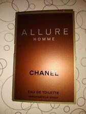 Chanel Allure Homme eau de toilette men's sample spray 1x 1.5 ml each