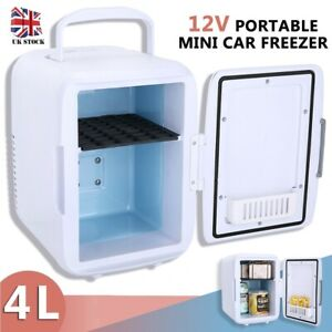 Portable 4L 12V Mini Car Freezer Cooler Warmer Electric Fridge Travel Box NEW