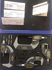 "iGAGING Digital Micrometer 0-4"" 4 piece 0-1"" 1-2"" 2-3"" 3-4""Absolute SpeedMic"