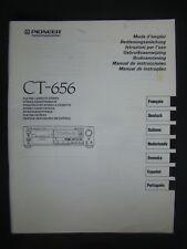 Bedienungsanleitung Pioneer CT-656 Deutsch,Francais,Italiano,Nederlands,Espanol