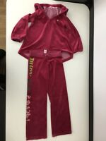 Juicy Couture Velour Pink Tracksuit Hoodie Jumper  Age 10 , Bottoms Age 8 Girls