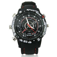 Spy Watch Hidden Camera Video Audio Picture Covert Pin Hole 8GB Internal Memory