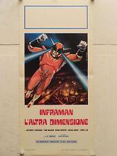 INFRAMAN L'ALTRA DIMENSIONE fantascienza regia R. Marvin locandina orig. 1976