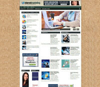 INTERNET MAKETING TIPS BLOG / STORE AFFILIATE WEBSITE WITH DOMAIN- VIDEO PAGES