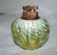 BAROVIER & TOSO CORDONATO D' ORO GOLD ROPES & GREEN TABLE LIGHTER MURANO GLASS