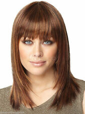 NEW132  new medium style brown mix straight fashion hair  wigs for women wig