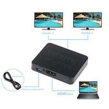 Useful Full 3D 4k HDMI Splitter 1x2 1 in 2 Out Repeater Amplifier Connect 2 TVs