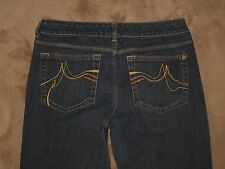 DKNY Size 13 R Times Square Dark Blue Flare Stretch Denim Womens Jeans