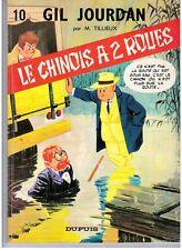 """BD """"GIL JOURDAN. 10 - LE CHINOIS A 2 ROUES"""" M. TILLIEUX (1967) E. O. DUPUIS"""