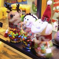 Snowman Christmas Santa Candy Filler Storage Bottle Xmas Party Decor Box Gift