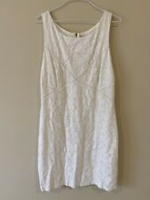 Forever New white lace mini dress size 14