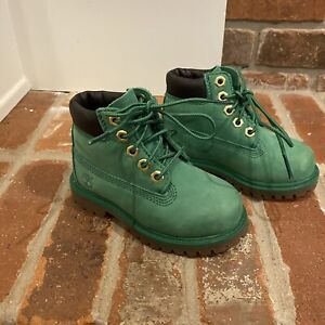 Timberland kids Green WinterGreen Suede boots Size 7 Toddler