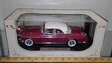 1/18 SIGNATURE MODELS 1955 CHRYSLER IMPERIAL DARK ROSE with WHITE TOP bd