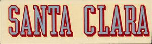 University of Santa Clara Broncos ORIGINAL vtg 1950s RARE College Decal Sticker