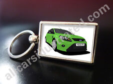 FORD FOCUS RS METAL KEY RING. CHOOSE YOUR CAR COLOUR.