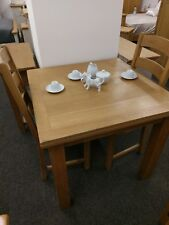 Baysdale Rustic Oak Square Extending Dining Table / Dining Room Furniture