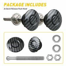 4pcs Universal Push Button Quick Release Hood Pins Bonnet Lock Clip Latch Bumper