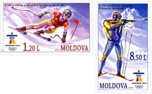 2612 - Moldova - 2010 - Olympic Vancouver - 2v - MNH - Lemberg-Zp