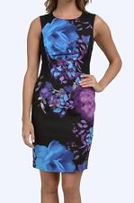 NWT MSRP $149 ADRIANNA PAPELL Women's Floral Sheath Dress, Purple Multi, Size 10