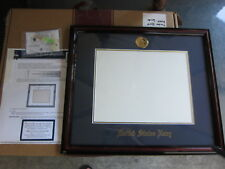 United State Navy Certificate Diploma Frame