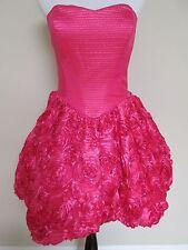 NWT Betsey Johnson Pink Topiary Rose Rosette Bubble Runway Evening Dress Sz 6