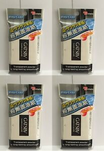 Four pcs Gatsby Powdered Oil Clear Paper Matte Finish, super absorbent 70 sheets