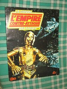 L EMPIRE CONTRE ATTAQUE LA GUERRE DES ETOILES ALBUM VIDE AGEDUCATIF 1980 panini