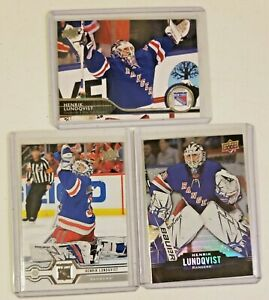 Henrik Lundqvist New York Rangers Upper Deck 3 NHL hockey card lot