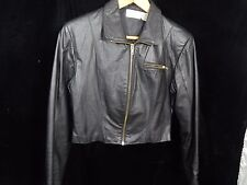 VTG(?) Womens Avon Fashions Black Leather Jacket Size S; Made in Korea