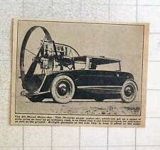 1923 70 Hp Motor Car Travels Over Snow Ice And Water Airtight Pontoons