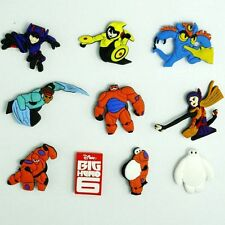 X 100   BIG HERO 6, INSPIRED  SHOE  CHARMS FITS   WRISTBANDS/ CAKE TOPPERS UK