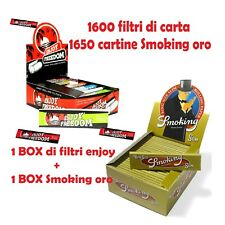 1650 CARTINE SMOKING ORO LUNGHE SLIM GOLD + 1600 FILTRI DI CARTA ENJOY FREEDOM