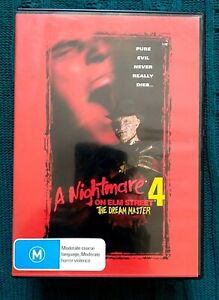 A NIGHTMARE ON ELM STREET 4  THE DREAM MASTER – DVD - R-4, LIKE NEW, FREE POST