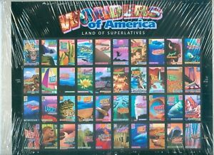US 4033-72 WONDERS OF AMERICA SHEET OF 40 STAMPS ISSUED 2005 P#1111  MINT