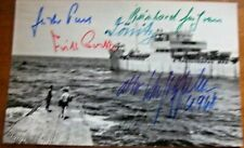 More details for v/rare - multi signed u-boat commanders photograph including  karl donitz + 4