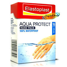 Elastoplast Aqua Protect Waterproof Hand Finger Cushion Wound Plasters 16 Strips