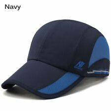 Men Women Outdoor Sport Baseball Mesh Hat Running Sun Visor Quick-drying Cap Navy