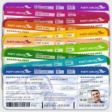 pers. Einladungskarten Flugticket, Ticket, Boardingpass Geburtstag + Ihr Bild
