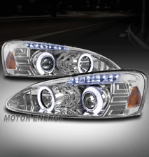 04-08 PONTIAC GRAND PRIX HALO LED PROJECTOR HEADLIGHT LAMP CHROME LEFT+RIGHT SET